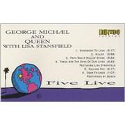 George Michael Five Live USA cassette single Promo