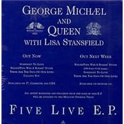 George Michael Five Live UK display Promo