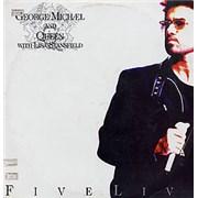 George Michael Five Live Colombia vinyl LP