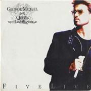 "George Michael Five Live Colombia 12"" vinyl Promo"