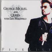George Michael Five Live USA CD single