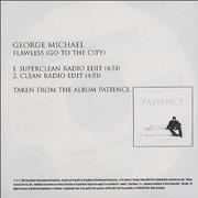George Michael Flawless (Go To The City) Canada CD-R acetate