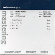 George Michael Flawless UK CD-R acetate Promo