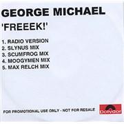 George Michael Freeek! UK CD-R acetate