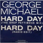"George Michael Hard Day - Autographed Australia 12"" vinyl"