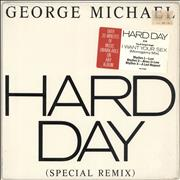 "George Michael Hard Day - Gold Promo Stamp USA 12"" vinyl Promo"