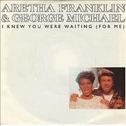 """George Michael I Knew You Were Waiting [For Me] USA 7"""" vinyl Promo"""