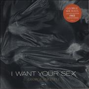 "George Michael I Want Your Sex + Poster - EX UK 12"" vinyl"