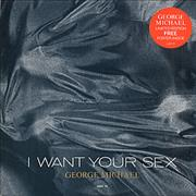 """George Michael I Want Your Sex + Poster UK 12"""" vinyl"""