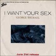 "George Michael I Want Your Sex Japan 7"" vinyl Promo"