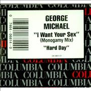 """George Michael I Want Your Sex USA 3"""" CD single"""