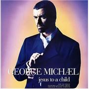 George Michael Jesus To A Child - New CD Single UK display Promo