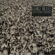 George Michael Listen Without Prejudice - Sticker UK vinyl LP