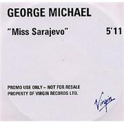 George Michael Miss Sarajevo UK CD-R acetate Promo