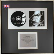 George Michael Older - Autographed UK award disc