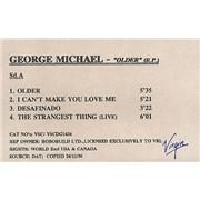 George Michael Older E.P. UK cassette single Promo