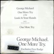 "George Michael One More Try + Badge - Sealed pack UK 7"" vinyl"