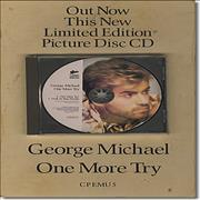 George Michael One More Try + Picture CD Single UK display Promo