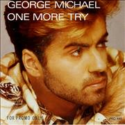 "George Michael One More Try - P/S Netherlands 7"" vinyl Promo"