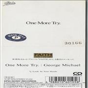 "George Michael One More Try Japan 3"" CD single"