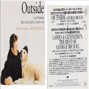 George Michael Outside + With All My Thanks... Japan 2-CD album set Promo