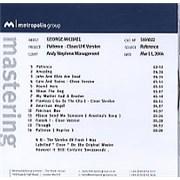George Michael Patience UK CD-R acetate Promo