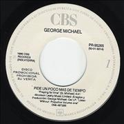 """George Michael Pide Un Poco Mas De Tiempo - Praying For Time Mexico 7"""" vinyl Promo"""