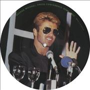 """George Michael Press Conference From Rome UK 7"""" picture disc"""