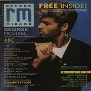 George Michael Record Mirror UK magazine