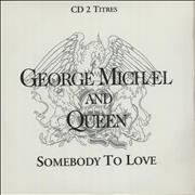 George Michael Somebody To Love - CD 2 Titres France CD single