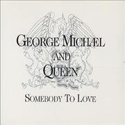 George Michael Somebody To Love Germany CD single