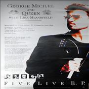 George Michael Somebody To Love UK poster Promo