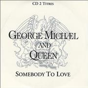 George Michael Somebody To Love France CD single