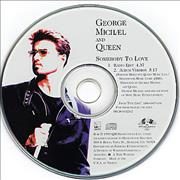 George Michael Somebody To Love USA CD single Promo