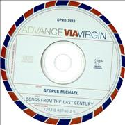 George Michael Songs From The Last Century Canada CD album Promo