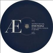 "George Michael Star People - Blue / White Labels UK 12"" vinyl Promo"