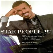 George Michael Star People '97 UK display Promo