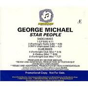 George Michael Star People USA CD single Promo