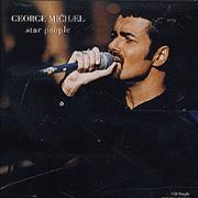 George Michael Star People/The Strangest Thing - Single USA CD single