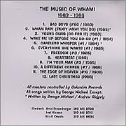 George Michael The Music Of George Michael/Wham USA CD-R acetate