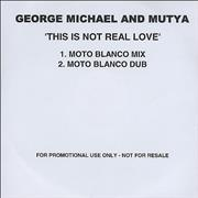 George Michael This Is Not Real Love - 2-track UK CD-R acetate Promo