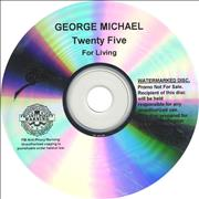 George Michael Twenty Five - For Living USA CD-R acetate Promo