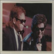 George Michael Wrap Her Up - With Elton John UK shaped picture disc