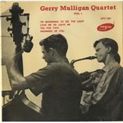"""Gerry Mulligan Gerry Mulligan Quartet Vol 1 EP UK 7"""" vinyl"""