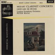 Click here for more info about 'Gervase De Peyer - Mozart Clarinet Concerto'