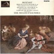 Gervase De Peyer Mozart: Trio in E Flat Major, K.498 / Quintet in A Major, K.581 UK vinyl LP