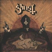 Click here for more info about 'Ghost (Swedish) - Infestissumam - Translucent Pale Yellow with Red & White splatter'