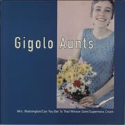 "Gigolo Aunts Mrs Washington - White Vinyl UK 12"" vinyl"