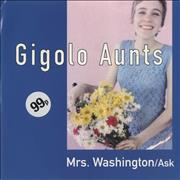 "Gigolo Aunts Mrs. Washington UK 7"" vinyl"