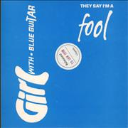 Click here for more info about 'Girl With Blue Guitar - They Say I'm A Fool'